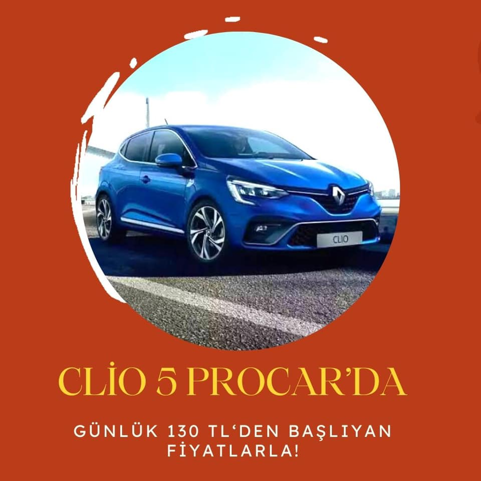 NEW CLIO 5 from Procar Çorlu and Tekirdağ Rent a Car