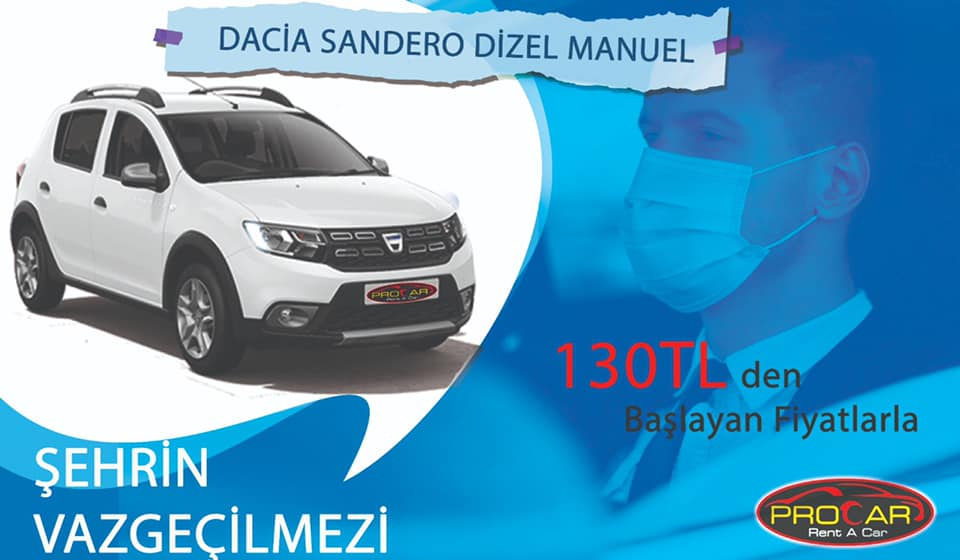 The Indispensable City of the City from Procar Çorlu and Tekirdağ Rent a Car Dacia Sandero Stepway %>